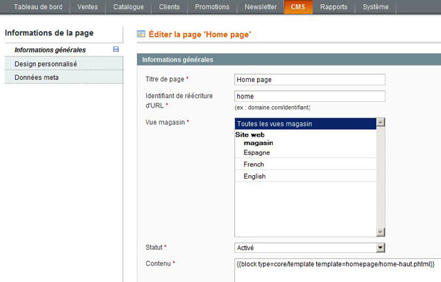 import-phtml-d'une-page-CMS