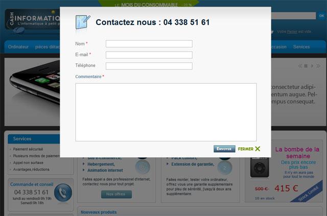 Formulaire de contact traduit