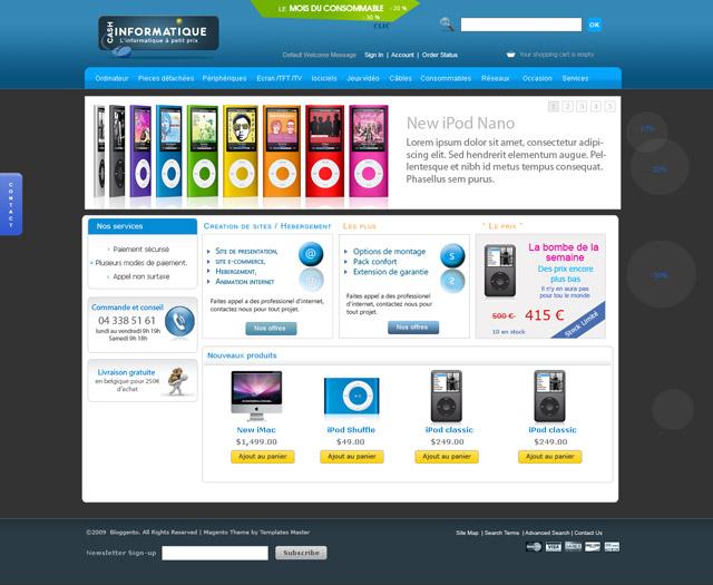 Création d'un site magento sur l'informatique