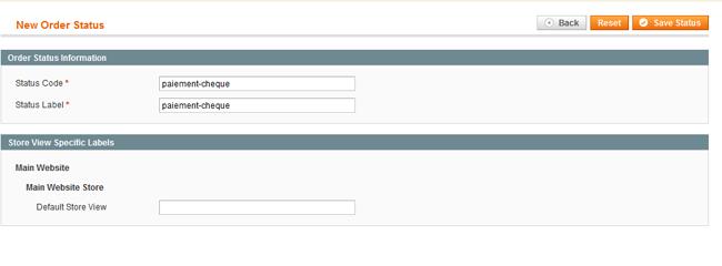 Ajout du nouveau statut de commande :  magento 1.5